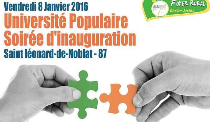 Inauguration de l'Université Populaire de Noblat avec Radio Vassivière