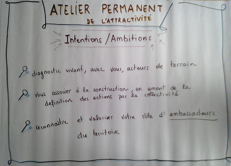 Intentions et ambitions de l'Atelier Permanent de l'Attractivité