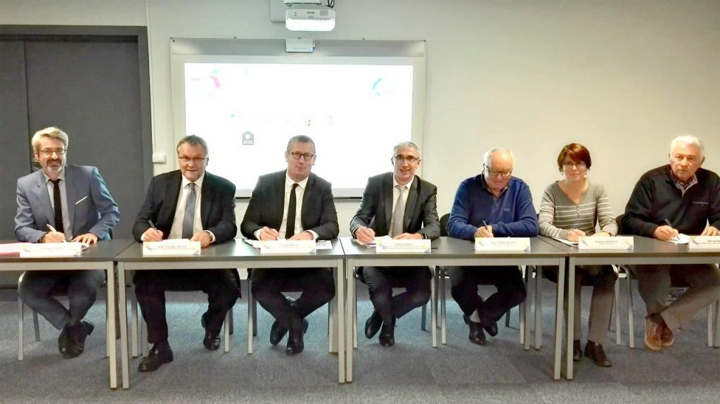 signature de la convention OPAH Noblat